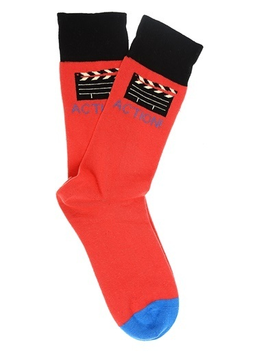 Pixter&Bro Soket Çorap Kırmızı